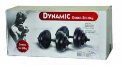 Dynamıc - Dynamıc Vinly Dumbbell Set 20 Kg