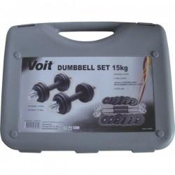 Voit 15 kg Döküm Dumbell Set - Thumbnail