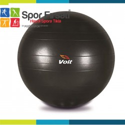 Voit - Voit 65 Cm. Pilates Topu Siyah + Pompa Hediyeli
