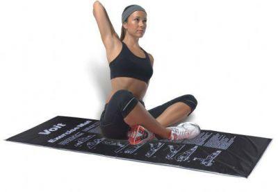 Voit Egzersiz Minderi Gri-Siyah Çantali