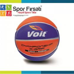 Voit - Voit XGrip Basketbol Topu N:5 Sarı-Lacivert