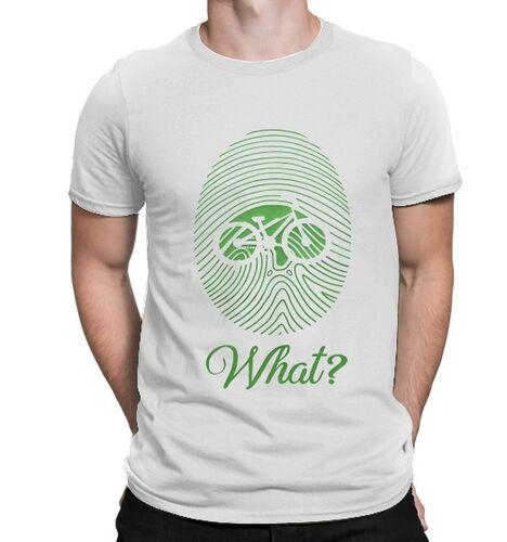 BikeStyle - BikeStyle Temalı Özel Tasarım Tshirt Parmak İzi -Beyaz