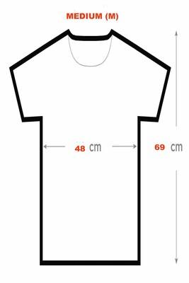 BikeStyle Tshirt Özel Tasarım Gülen Yüz -Medium - Thumbnail