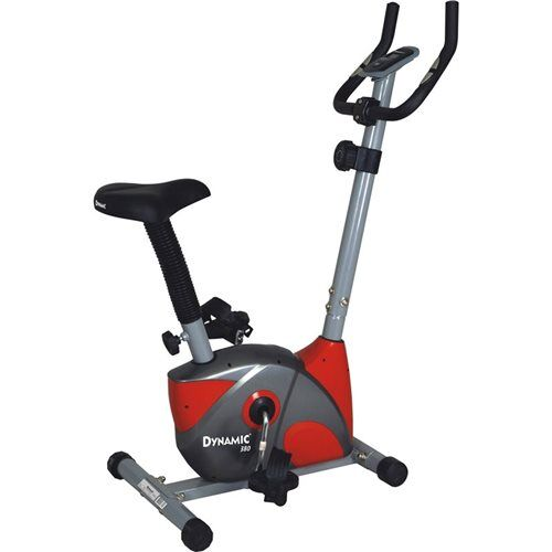 Dynamic - Dynamic 380 Nabız Ölçerli Manyetik Kondisyon Bisikleti -Kırmızı -Gri