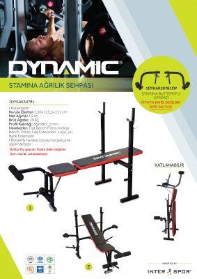 Dynamic - Dynamic Stamina Katlanabilir Mekik,Ağırlık, Bench Sehpası