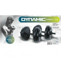 Dynamic - Dynamıc Vinly Dumbell Set 15 kg