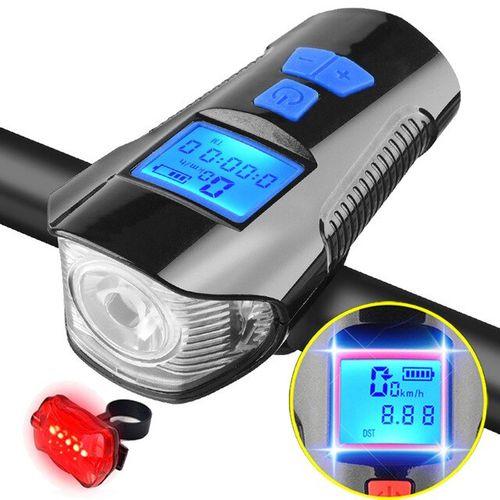 Pozitif - Pozitif Bisiklet Farı USB şarj edilebilir led Far +Ön Far +Kilometre Saati XA-585