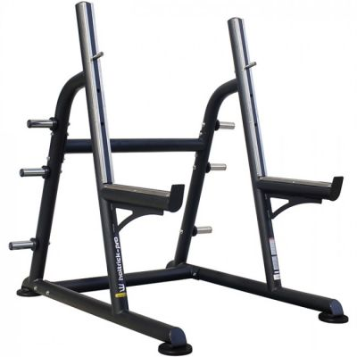 Hattrick Pro - Hattrick Pro BK-21 Stairstep Squat Rack With Adjustable Safety Catch