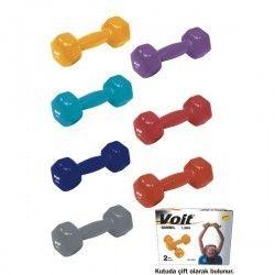 Voit - Voit DB-21 3 KG Vınly Dipping Dambıl/ Kırmızı