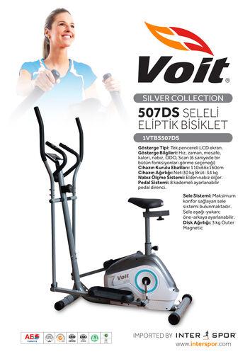 Voit - Voit 507 DS Silver Seleli Eliptik Bisiklet