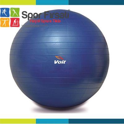 Voit - Voit 55 Cm Pilates Topu Mavi + Pompa Hediyeli